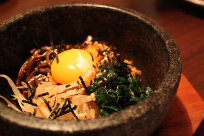 Stone-cooked bibimbap