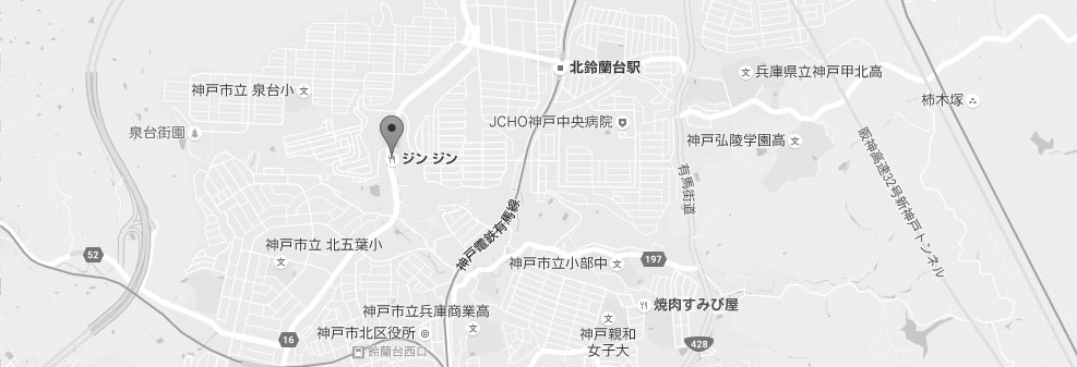 焼肉ジン☆ジン地図